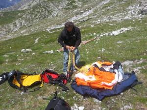 Parapendio Monte Bianco Preparazione