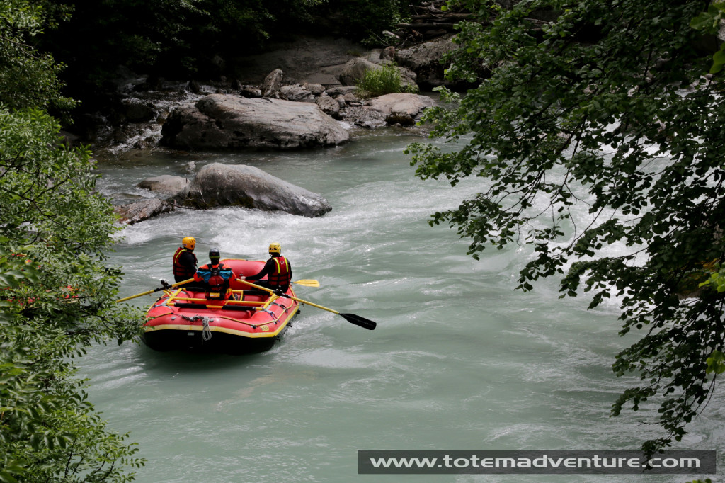 Dropping into one of our secret rafting spots. Photo: Aurelien Sudan